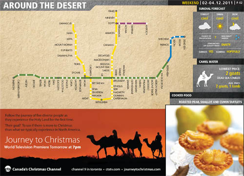 Layout/Pagination: CTS Special Execution – The Journey To Christmas (in t.o.night Newspaper)